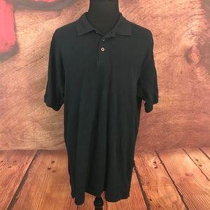 Cabela's Big & Tall Black Polo Shirt XLT